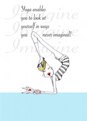 Funny Yoga Quotes Yoga quote humor 5x7 print by