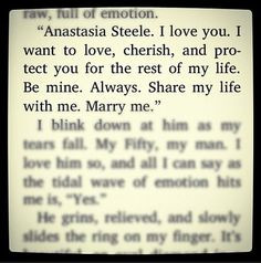 Fifty Shades Of Grey Christian Grey Ana Steele Quote Love Marriage ...