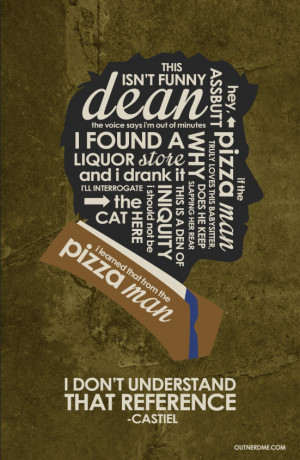 SuperNatural (Castiel) Inspired Quote Poste www by outnerdme