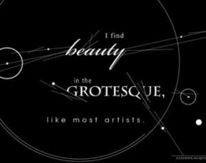 Alexander McQueen Quote, Black and White Art Illustration, Desktop ...