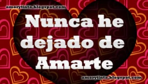 heart with quote in spanish