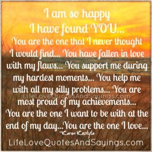 am so happy i found you you are the one that has fallen in love with ...