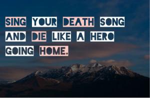 Tecumseh Poem Live Your Life