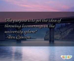 The purpose is to get the idea