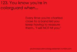 Color Guard Jokes Tagged as: color guard.