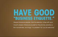 Quotes Business Etiquette ~ Business Etiquette