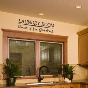 Laundry Room Home Wall Decal Decor Funny Quote by StickemUpCustoms, $9 ...