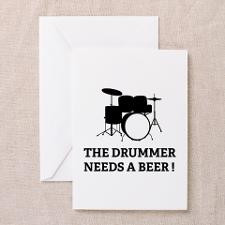 Drummer Beer Greeting Card for