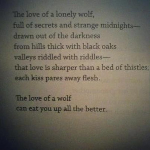 Beautiful. Lonely Wolf.
