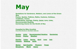 May, Spring, Season: Poems, Quotes, Sayings, Folklore, Ideas ...