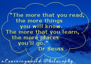 Dr Seuss Quote about learning