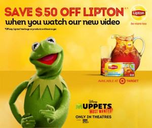 ... above to see Kermit the Frog drink some tea. Funny stuff, I tell you