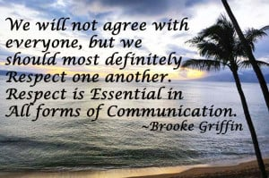 Respect is Essential in ALL Forms of Communication