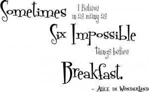Alice in Wonderland wall art quotes