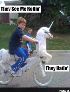 They see me rollin'... They hatin'