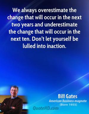 Bill Gates Change Quotes