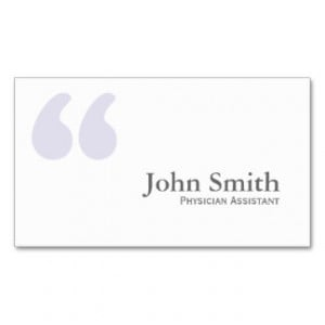 Physician Assistant Business Cards