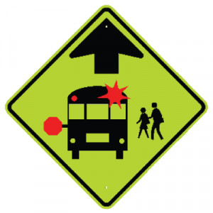 ... Compliant Traffic & Parking Signs > School Safety Signs - Bus Crossing
