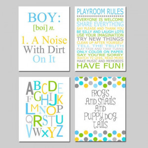 Baby Boy Nursery Art - Nursery Quote Prints - Kids Wall Art Baby Boys ...