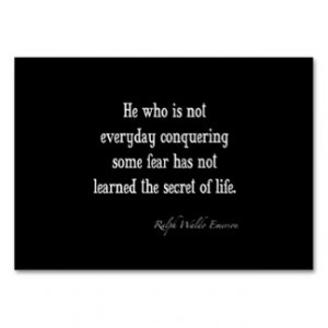 ... Emerson Inspirational Secret of Life Quote Business Card Templates