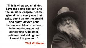 Walt Whitman Love Quotes