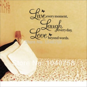 Live-Laugh-Love-Wall-Decals-Quotes-Paper-Butterfly-Decoration-Wall ...