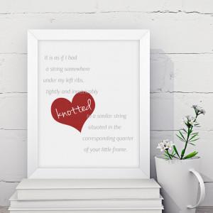Romantic Jane Eyre quote print, Valentine / Anniversary gift ...