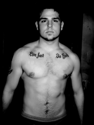 life quote tattoo on chest for men