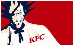 Download the Bleach anime wallpaper titled: 'Kenpachi KFC'.