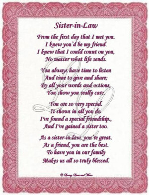 Law, Sisters In Law Poems, Birthday Wish, Google Search, Sisters Poems ...
