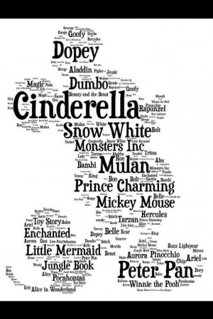 Cinderella, Prince Charming, Mickey Mouse, Litle Mermaid, Dopey, and ...