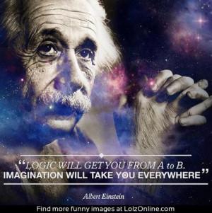 Einstein on imagination...