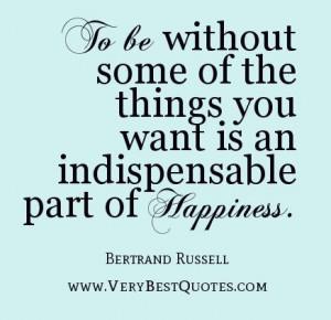 Carecer de alguna de las cosas que uno desea es condición ...