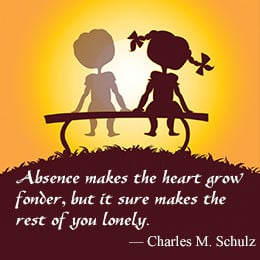 Long distance quote by Charles M. Schulz