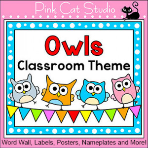 Owl Theme Classroom Decor Pack - Back to School Decor