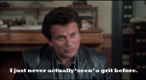 funny lawyer quote - my cousin vinny - never actually 'seen' a grit ...