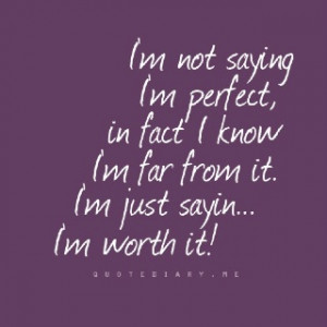 not perfect...