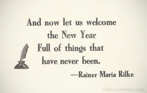 New Years Quote Rilke