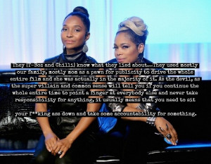 ... Reid threatened Chilli,and claimed she had an affair with L.A. Reid