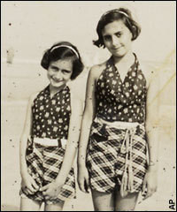 Anne and Margot Frank on holiday.