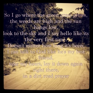 Dirt road prayer - Lauren Alaina Lessons from country songs