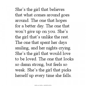 tumblr quotes about being strong girl