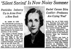 Rachel Carson, author of Silent Spring, and a pioneering modern ...