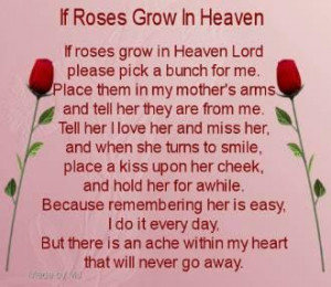 happy mothers day this is for my beautiful mom in heaven