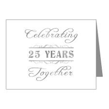 Celebrating 25 Years Together Note Cards (Pk of 20 for