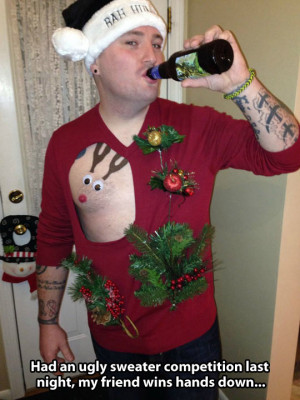 Ugliest sweater ever…