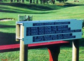 Ladies golf course conditions: