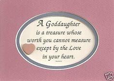 GODDAUGHTER Treasure Worth Measure LOVE IN HEART Children verses poems ...