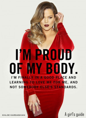 proud of my body. I'm finally in a good place and learning to ...