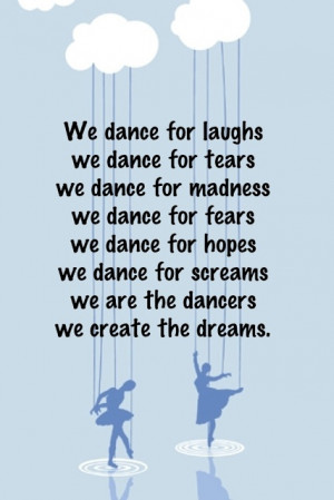 Dance Recital Ad Quotes